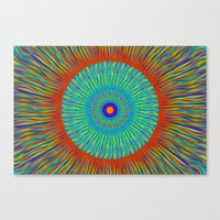 kaleidoscope Canvas Prints featuring Kaleidoscope  by BrucestanfieldartistPatterns