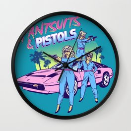 Pantsuits & Pistols Wall Clock