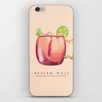 moscow iPhone & iPod Skins featuring Moscow Mule by Nan Lawson