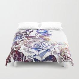 Rose Bloom Nebula Duvet Cover