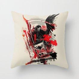 Time flies [ teMpus fuGit ] Throw Pillow