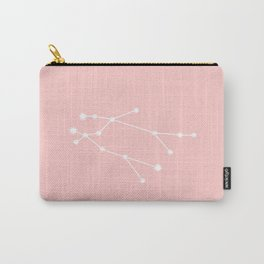 Gemini Star Sign Soft Pink Carry-All Pouch