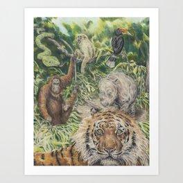 Indonesian Rain Forest Art Print