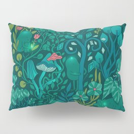Emerald forest keepers. Magic woodland creatures. Pillow Sham