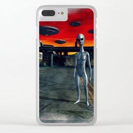 Battlefield Earth - UFO Invasion Clear iPhone Case