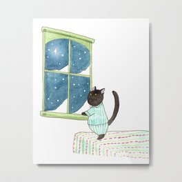 Puck and the Star Metal Print