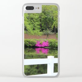 Beauty By The White Fence Clear iPhone Case