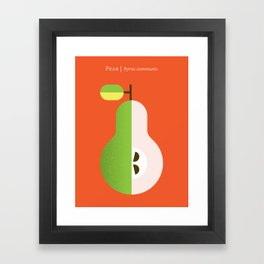 Fruit: Pear Framed Art Print