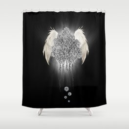 Angel of the chaos Shower Curtain