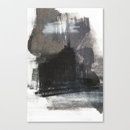 Abstract Texture, Black White & Grey Texture 1 Canvas Print