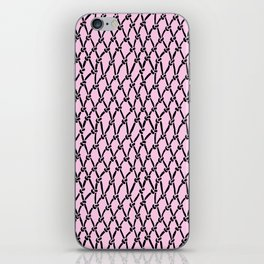 Fishing Net Black on Blush iPhone Skin
