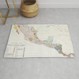 Vintage Central America Linguistic Map (1909) Rug