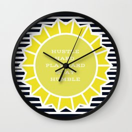 Hustle in the Sun Wall Clock