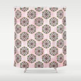 Botanical Mandala Shower Curtain