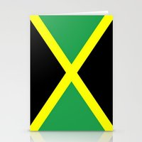 jamaica Stationery Cards featuring Jamaica Flag by Barrier _S_D