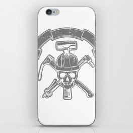 Death construction worker iPhone Skin