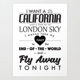 Fly Away - White Art Print