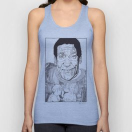 Bill Cosby in a Toulouse Lautrec Sweater by Aaron Bir Unisex Tank Top