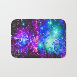 Fox Fur Nebula Galaxy Pink Purple Blue Bath Mat