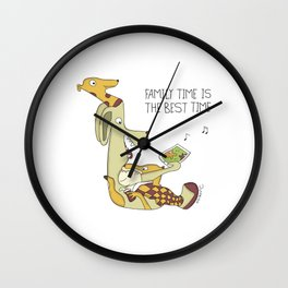 Family Time is The Best Time Wall Clock