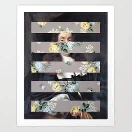 A Portrait With Bars 3 Art Print