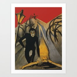 The Cabinet of Dr. Caligari,1920 German Silent Horror Film Art Print