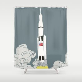 Rocket power! Shower Curtain