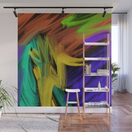 Abstract 3 Painting in Oil Wall Mural
