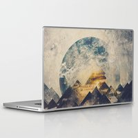 mountains Laptop & iPad Skins featuring One mountain at a time by HappyMelvin