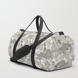 chinoiserie toile mono Duffle Bag