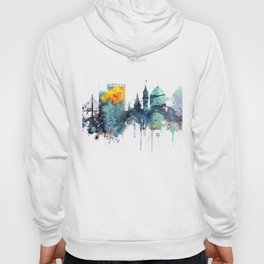 Oakland California Blue  skyline print Hoody