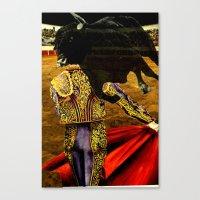 bull Canvas Prints featuring bull by Brianna M. Garcia