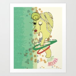 Lucy Crack Art Print
