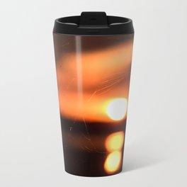 Sunset Through A Spiderweb Metal Travel Mug