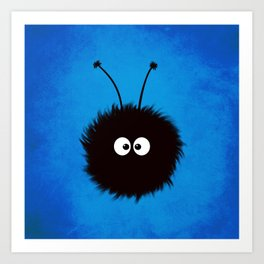 Blue Cute Dazzled Bug Art Print