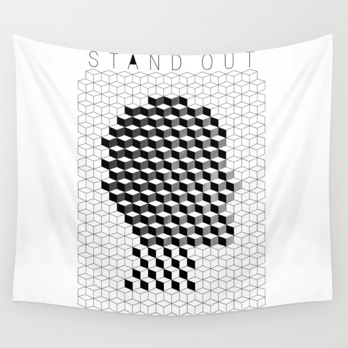 VISION CITY - STAND OUT Wall Tapestry