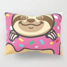 Sloth loves donut Pillow Sham