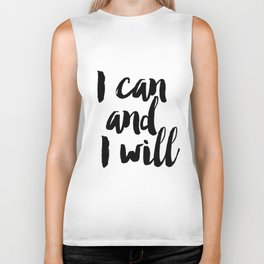 I Can And I Will Print, Printable Art, Motivational Art, Inspirational Quote, Modern Decor, Girl Bos Biker Tank