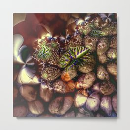 Pebbles and abstract fantasy plants Metal Print