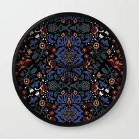 folk Wall Clocks featuring Folk by Pommy New York