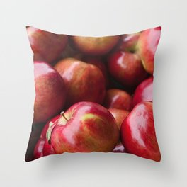 Red apples for sale at the market Throw Pillow