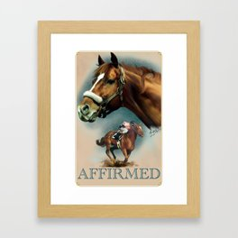 Affirmed with Name Plate Framed Art Print