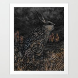Sundown in Rabbit Valley Art Print