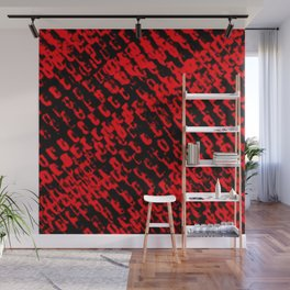 Red sublime metal pattern Wall Mural