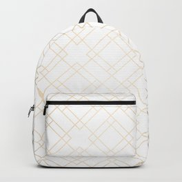 Simply Mod Diamond White Gold Sands on White Backpack