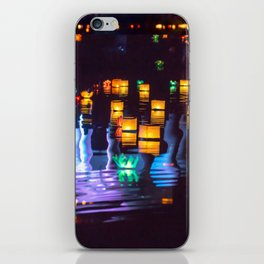 Festival of water lights iPhone Skin