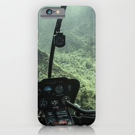 Helicopter Pilot's View iPhone Case