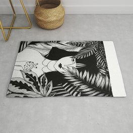 In the tropical forest / Illustration Rug