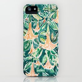 DATURA DREAMS Watercolor Floral iPhone Case