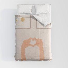 Hand Heart Comforters
